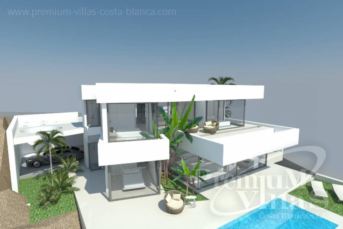 Villa de lujo calpe costa blanca espa a proyecto de una for Casa moderna 9 mirote y blancana